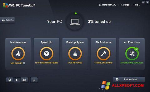 Screenshot AVG PC Tuneup für Windows XP
