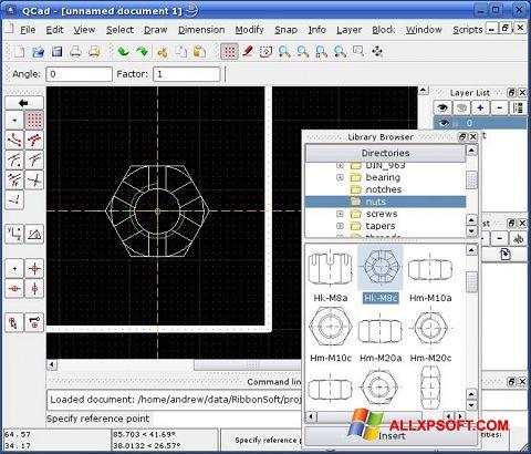 Screenshot QCad für Windows XP