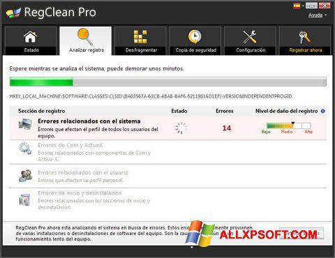 Screenshot RegClean Pro für Windows XP