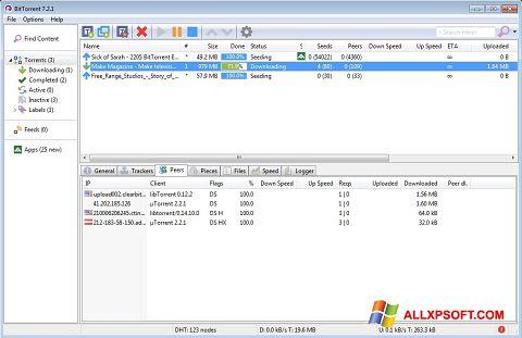 Screenshot BitTorrent für Windows XP
