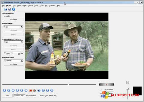 Screenshot Avidemux für Windows XP