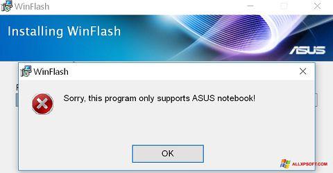 Screenshot WinFlash für Windows XP