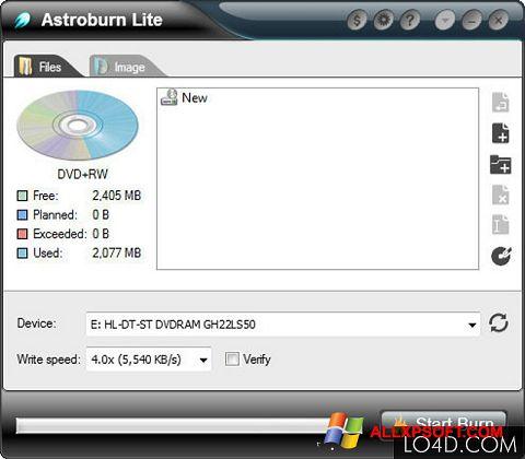 Screenshot Astroburn Lite für Windows XP