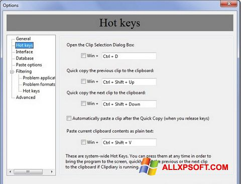 Screenshot Clipdiary für Windows XP