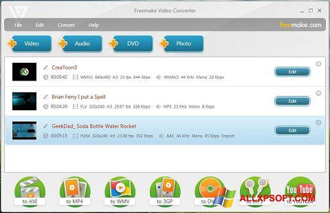 Screenshot Freemake Video Converter für Windows XP