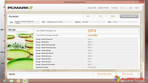 Screenshot PCMark für Windows XP