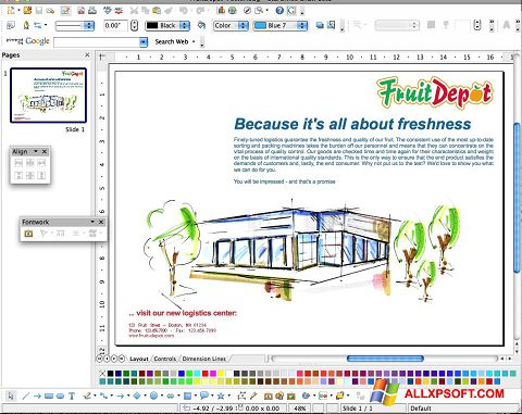 Screenshot Apache OpenOffice für Windows XP
