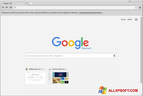Screenshot Google Chrome für Windows XP