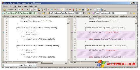 Screenshot Beyond Compare für Windows XP