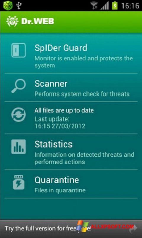 Screenshot Dr.Web Light für Windows XP