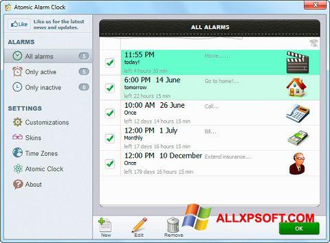 Screenshot Atomic Alarm Clock für Windows XP