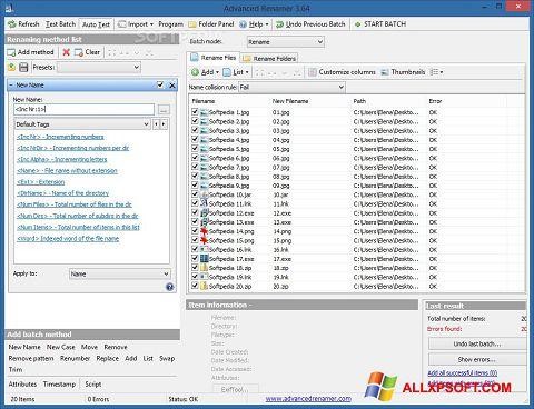 Screenshot ReNamer für Windows XP