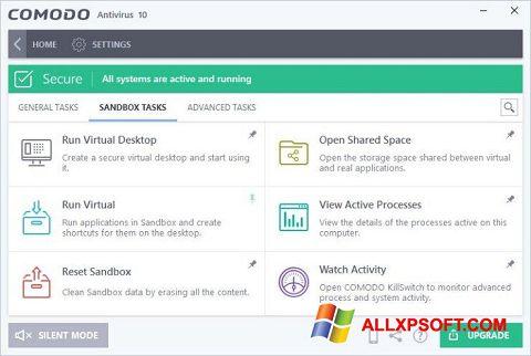 Screenshot Comodo Antivirus für Windows XP