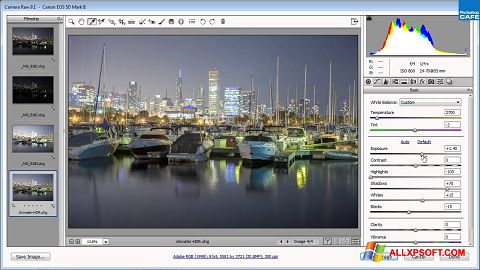 Screenshot Adobe Camera Raw für Windows XP