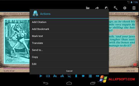 Screenshot AlReader für Windows XP