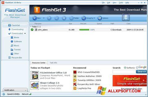 Screenshot FlashGet für Windows XP