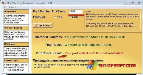 Screenshot PFPortChecker für Windows XP
