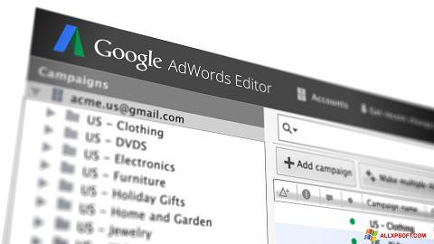 Screenshot AdWords Editor für Windows XP