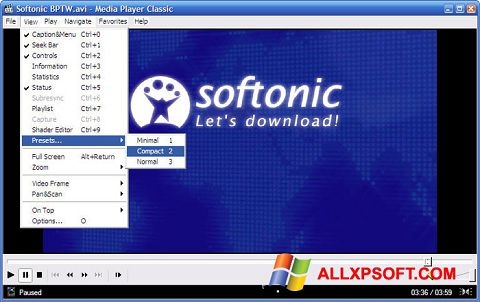 Screenshot Media Player Classic für Windows XP