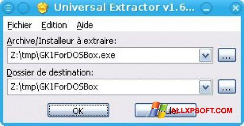 Screenshot Universal Extractor für Windows XP
