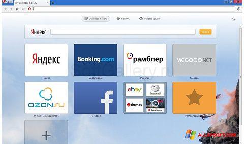 Screenshot Opera Next für Windows XP
