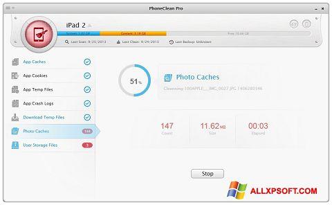 Screenshot PhoneClean für Windows XP