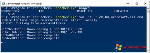 Screenshot Windows PowerShell für Windows XP