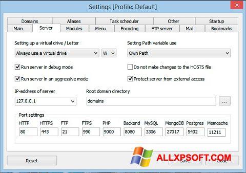 Screenshot Open Server für Windows XP