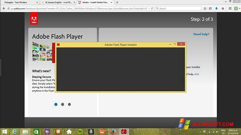 Screenshot Adobe Flash Player für Windows XP