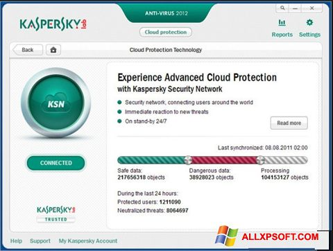 Screenshot Kaspersky für Windows XP