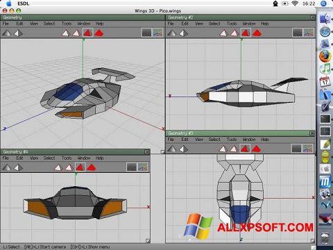 Screenshot Wings 3D für Windows XP