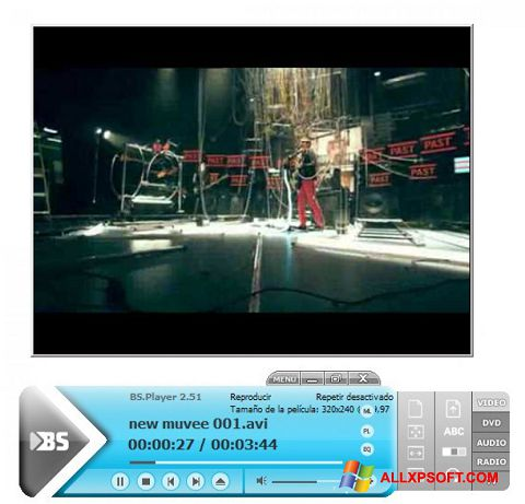 Screenshot BSPlayer für Windows XP
