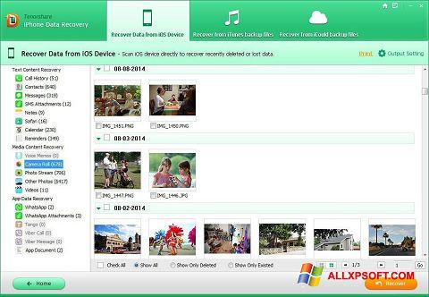 Screenshot iPhone Data Recovery für Windows XP