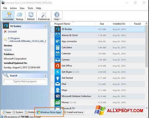 Screenshot Uninstall Tool für Windows XP