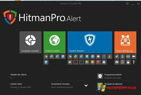 Screenshot HitmanPro für Windows XP