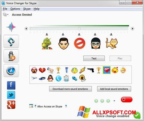 Screenshot Skype Voice Changer für Windows XP
