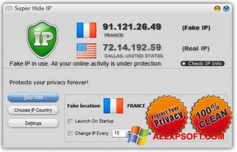 Screenshot Super Hide IP für Windows XP