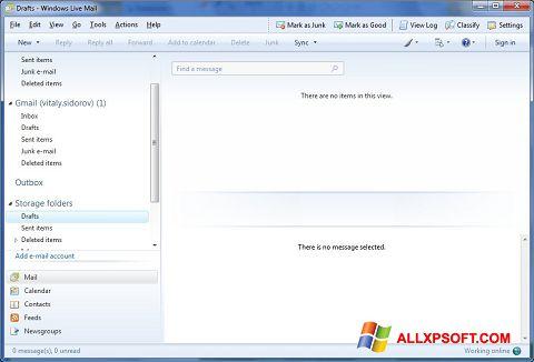 Screenshot Windows Live Mail für Windows XP