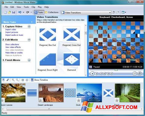Screenshot Windows Movie Maker für Windows XP