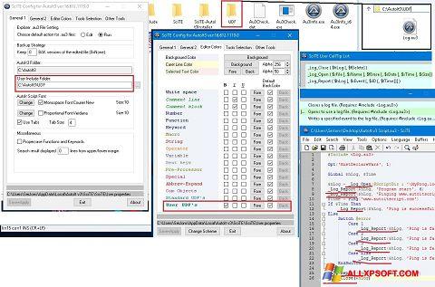 Screenshot SciTE für Windows XP