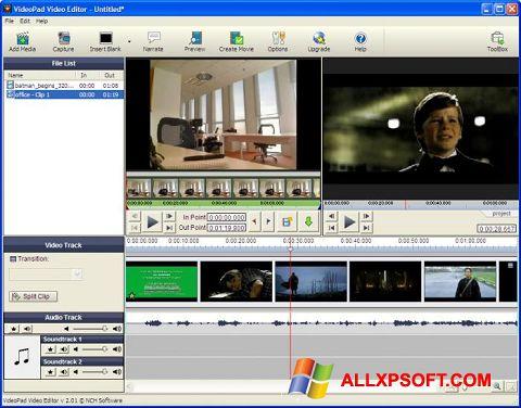 Screenshot VideoPad Video Editor für Windows XP