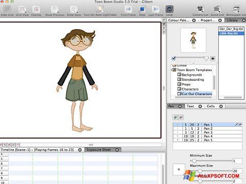 Screenshot Toon Boom Studio für Windows XP