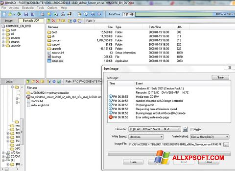 Screenshot UltraISO für Windows XP