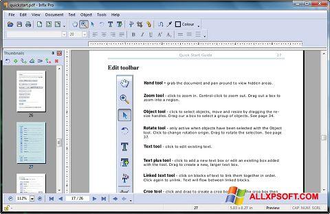 Screenshot Infix PDF Editor für Windows XP