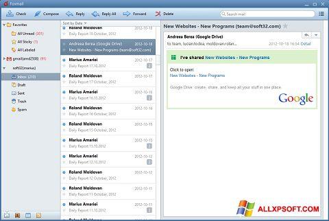 Screenshot FoxMail für Windows XP