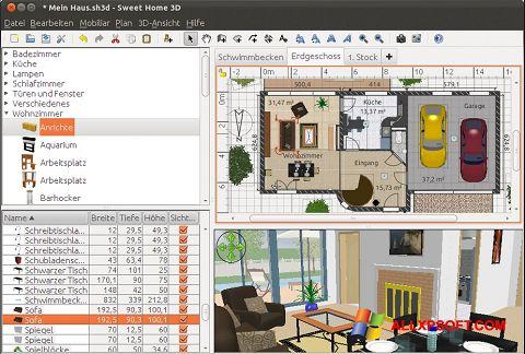 Screenshot Sweet Home 3D für Windows XP