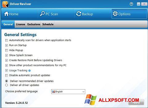 Screenshot Driver Reviver für Windows XP