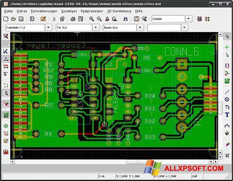 Screenshot KiCad für Windows XP