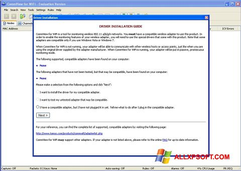 Screenshot CommView for WiFi für Windows XP