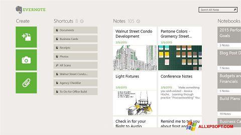 Screenshot Evernote für Windows XP